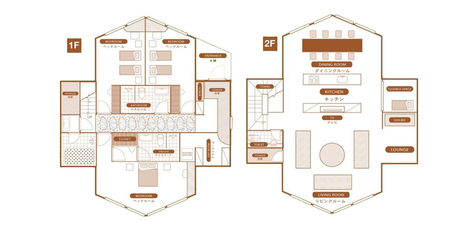 The Orchards Niseko Akagashi Floor Plan | St Moritz, Niseko | Ministry of Chalets