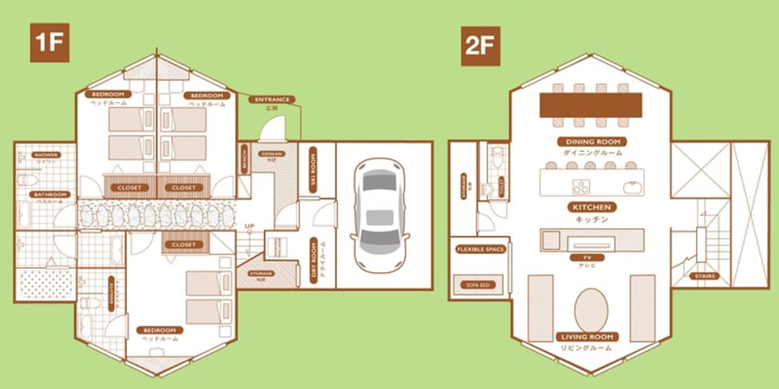 The Orchards Niseko Shion Floor Plan | St Moritz, Niseko | Ministry of Chalets