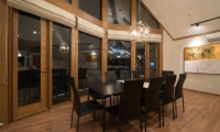 The Orchards Niseko Goyomatsu Dining Area at Night | St Moritz, Niseko | Ministry of Chalets