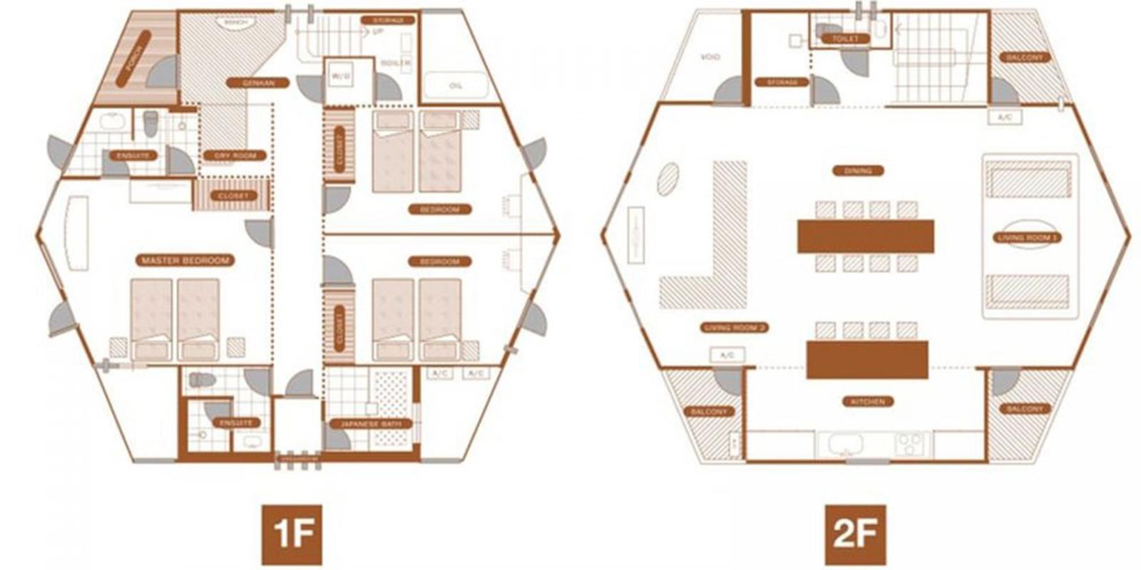 The Orchards Niseko Hinoki Floor Plan | St Moritz, Niseko | Ministry of Chalets