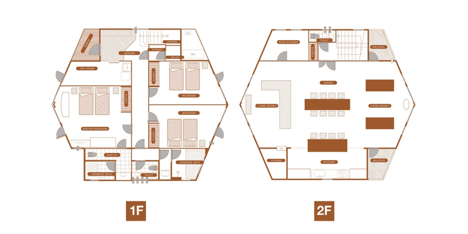 The Orchards Niseko Kaki Floor Plan | St Moritz, Niseko | Ministry of Chalets