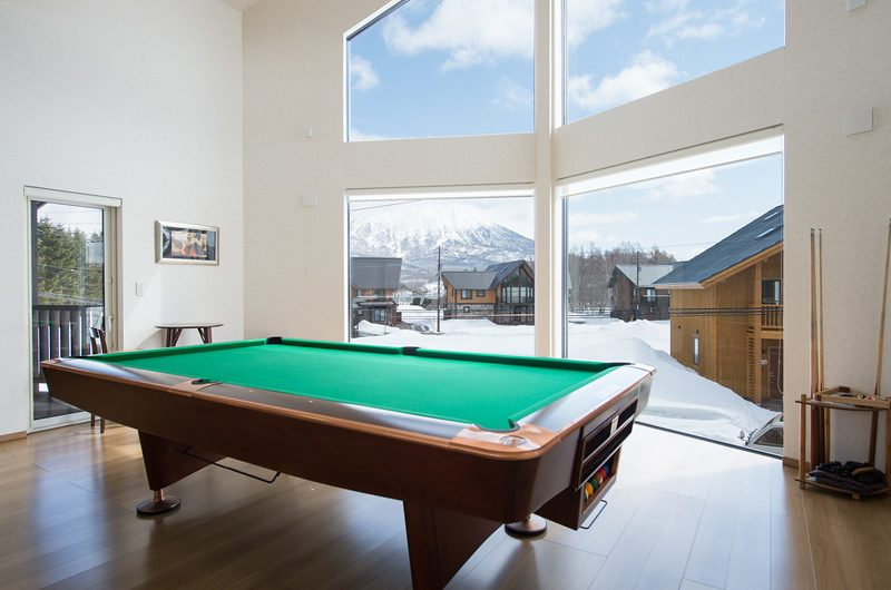 The Orchards Niseko Sawara Billiard Table with View | St Moritz, Niseko | Ministry of Chalets