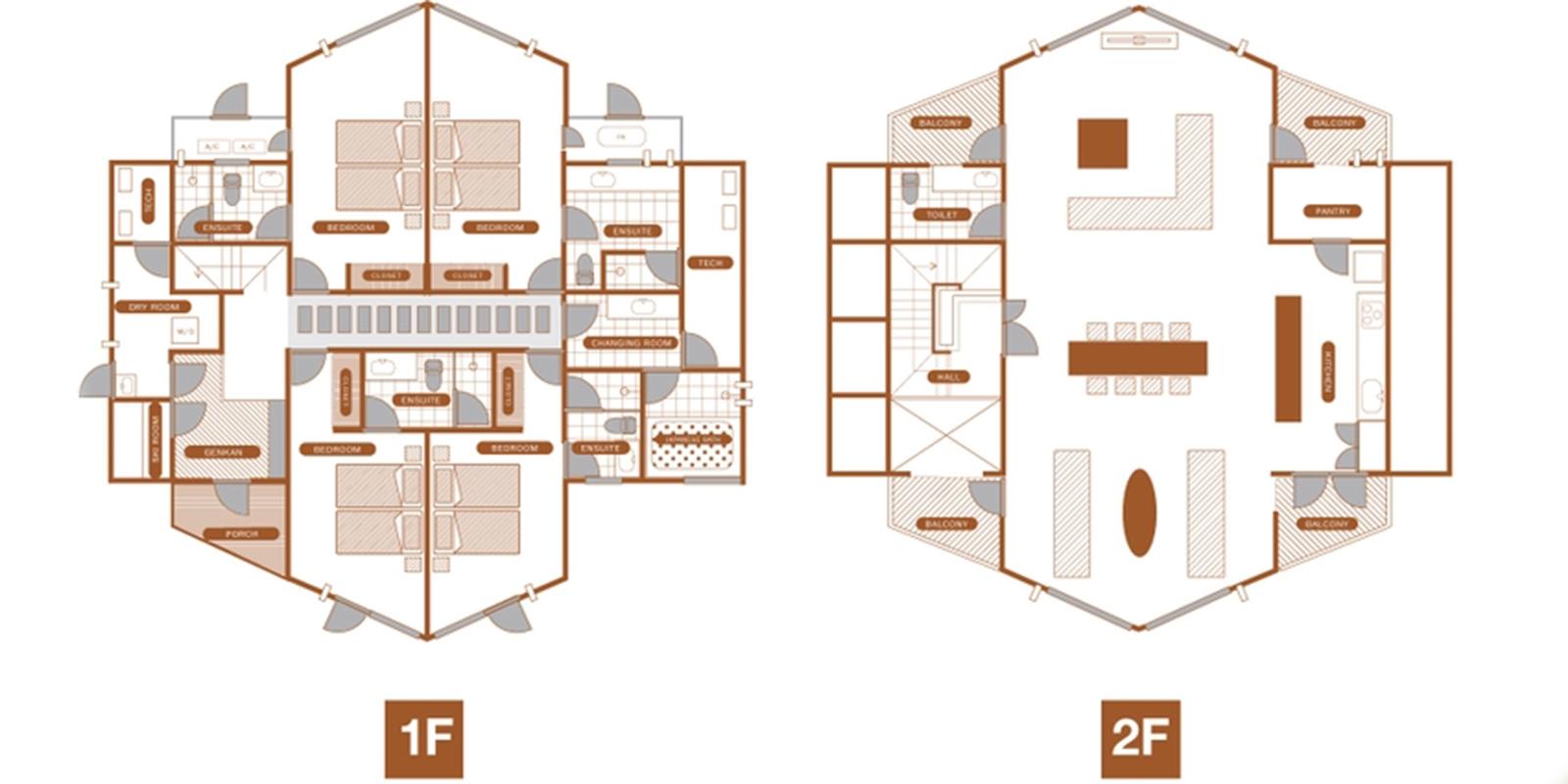 The Orchards Niseko Sawara Floor Plan | St Moritz, Niseko | Ministry of Chalets