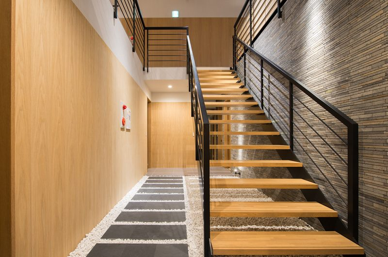 The Orchards Niseko Take Up Stairs | St Moritz, Niseko | Ministry of Chalets