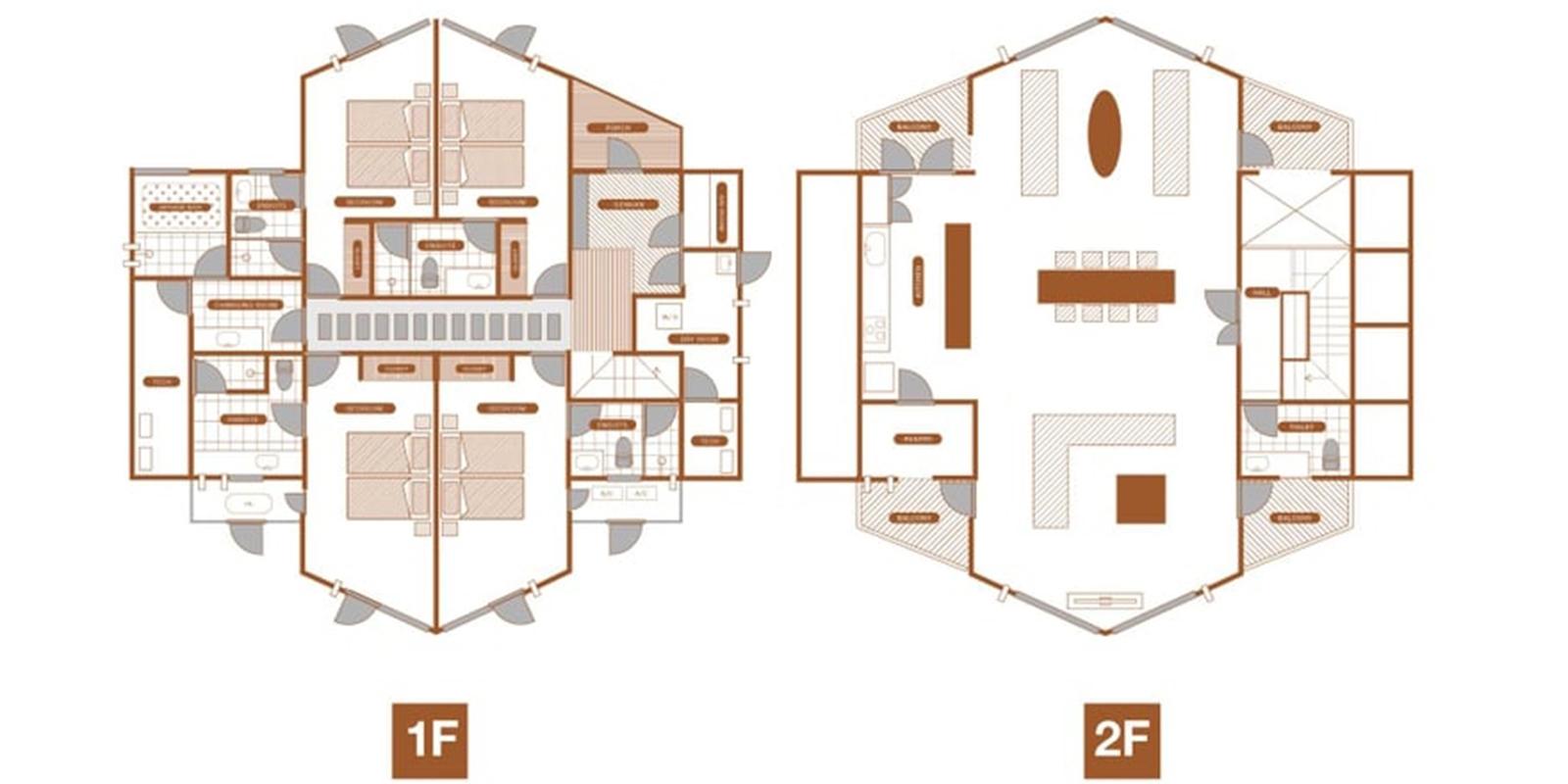 The Orchards Niseko Zakuro Floor Plan | St Moritz, Niseko | Ministry of Chalets