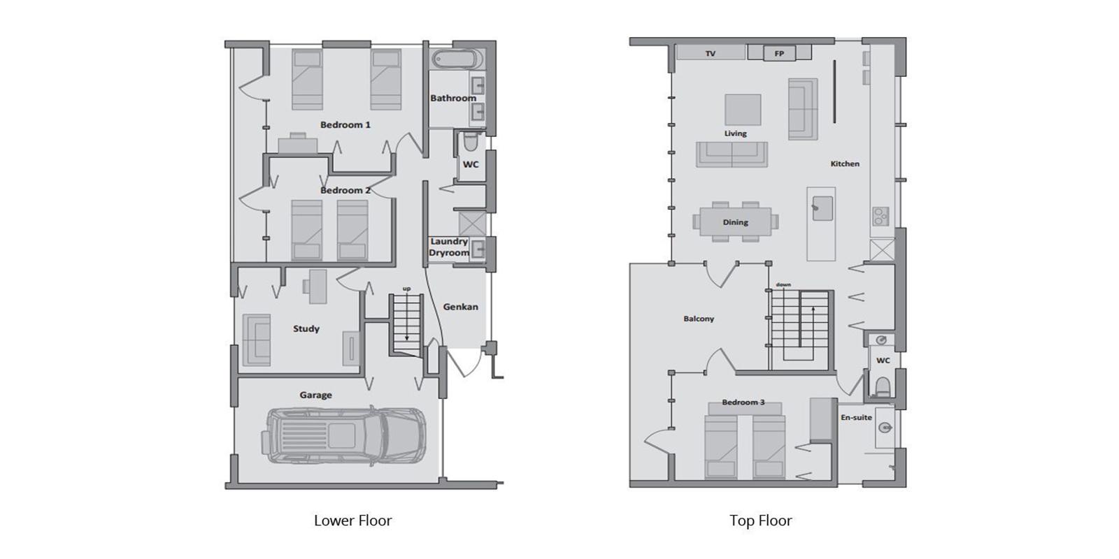 Tokubetsu Floor Plan | Hirafu, Niseko | Ministry of Chalets