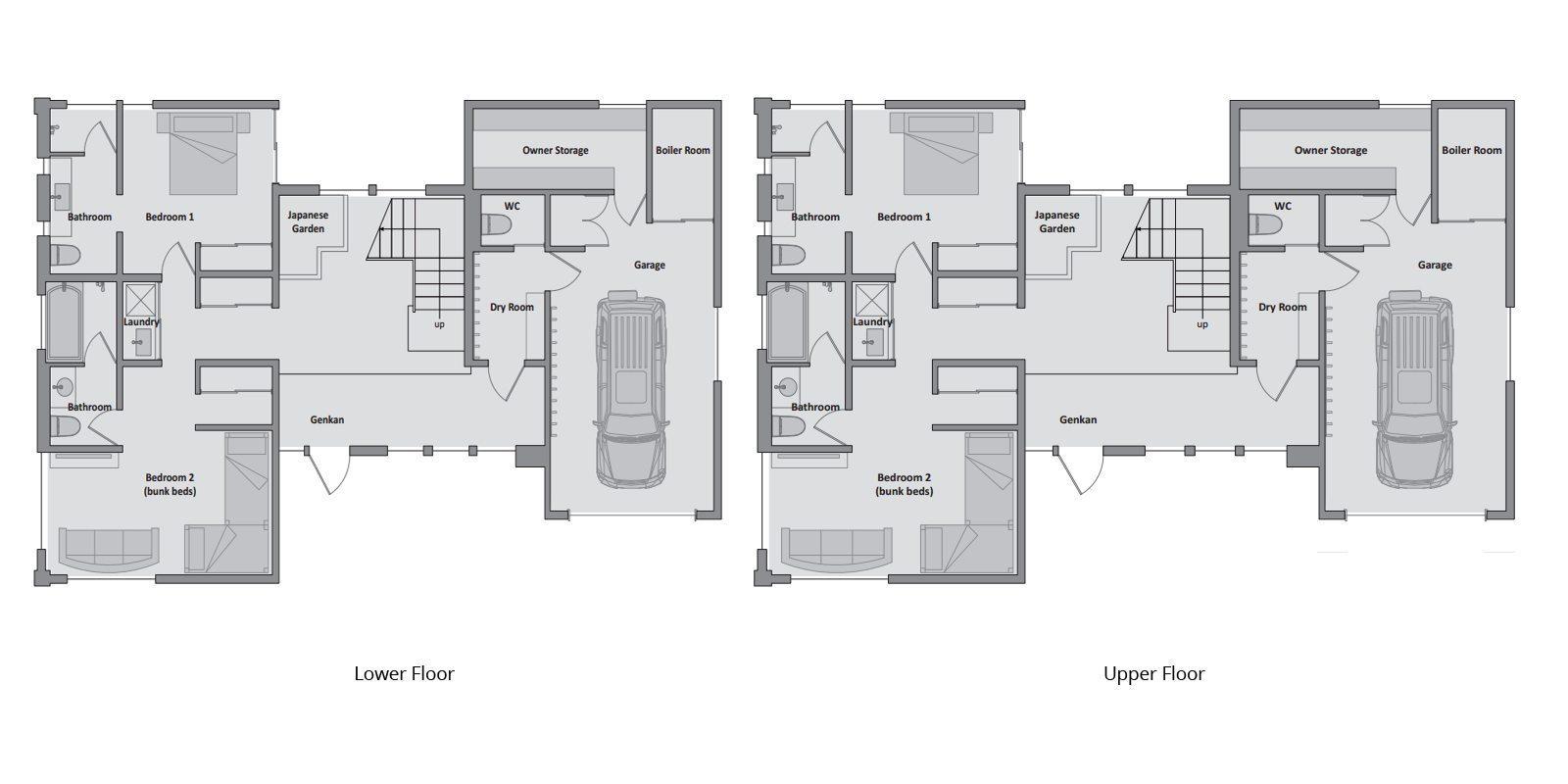 Tsubaki Floor Plan | Hirafu, Niseko | Ministry of Chalets