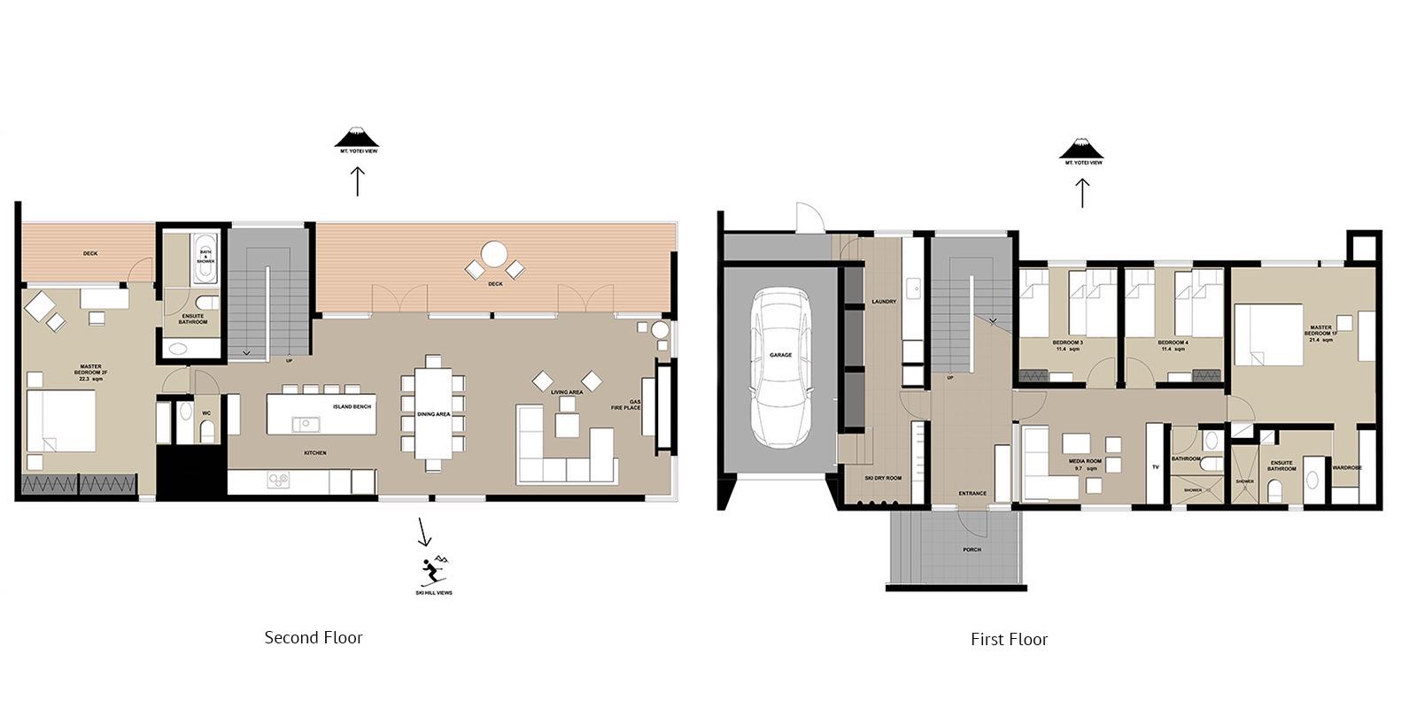 Yanagi House Floor Plan | Hirafu, Niseko | Ministry of Chalets