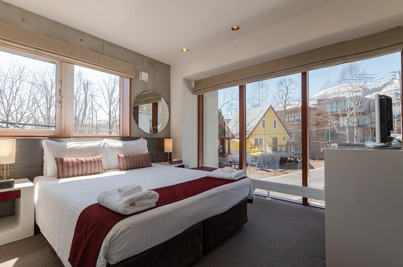 Yuki Ten Bedroom with Outside Views | Hirafu, Niseko | Ministry of Chalets