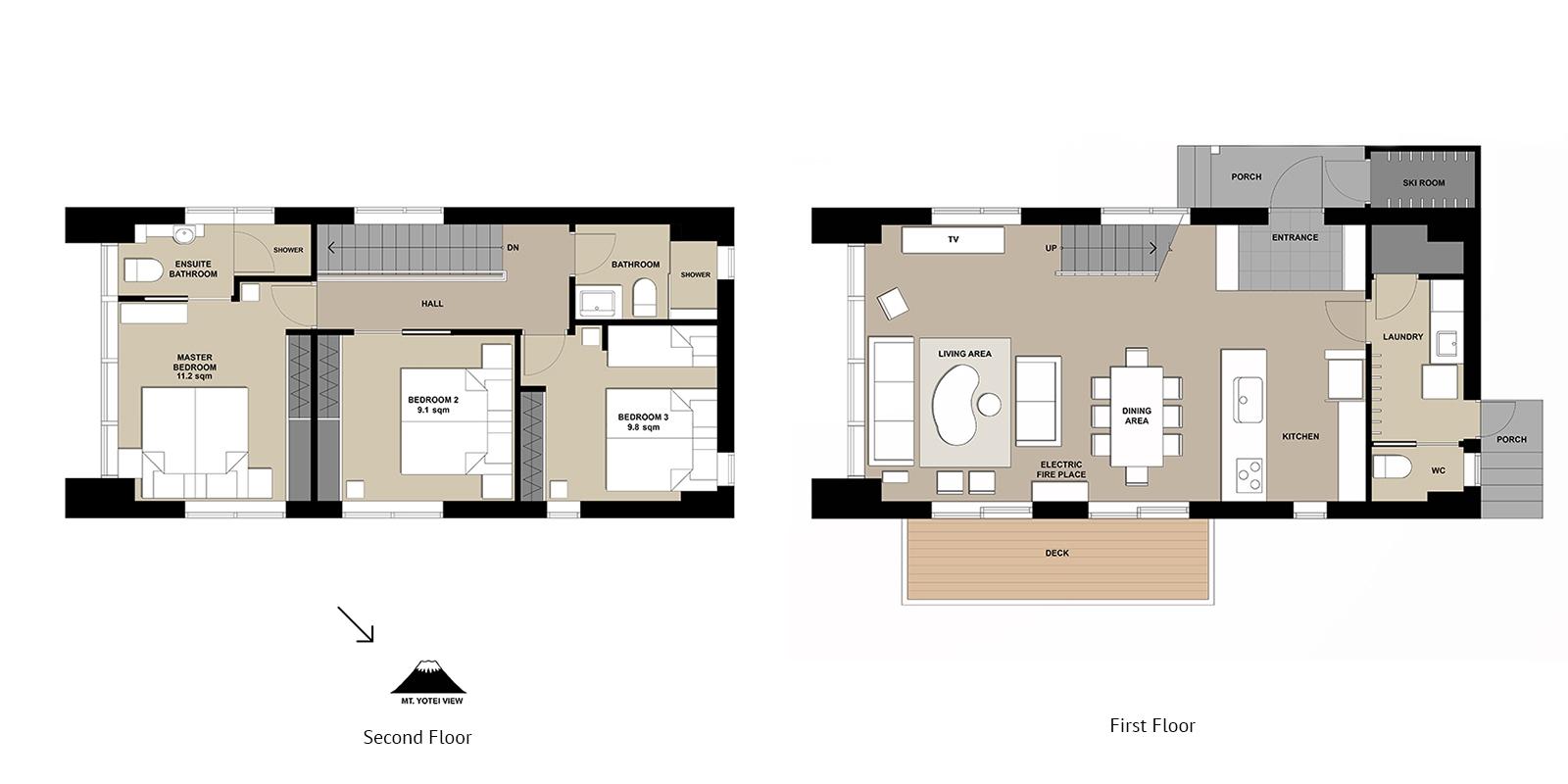 Yuki Uchi Floor Plan | HIrafu, Niseko | Miinistry of Chalets