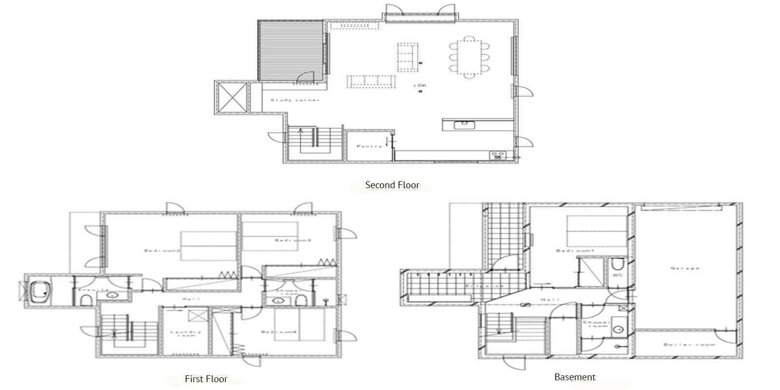 Yuzuki Floor Plan   Hirafu, Niseko   Ministry of Chalets