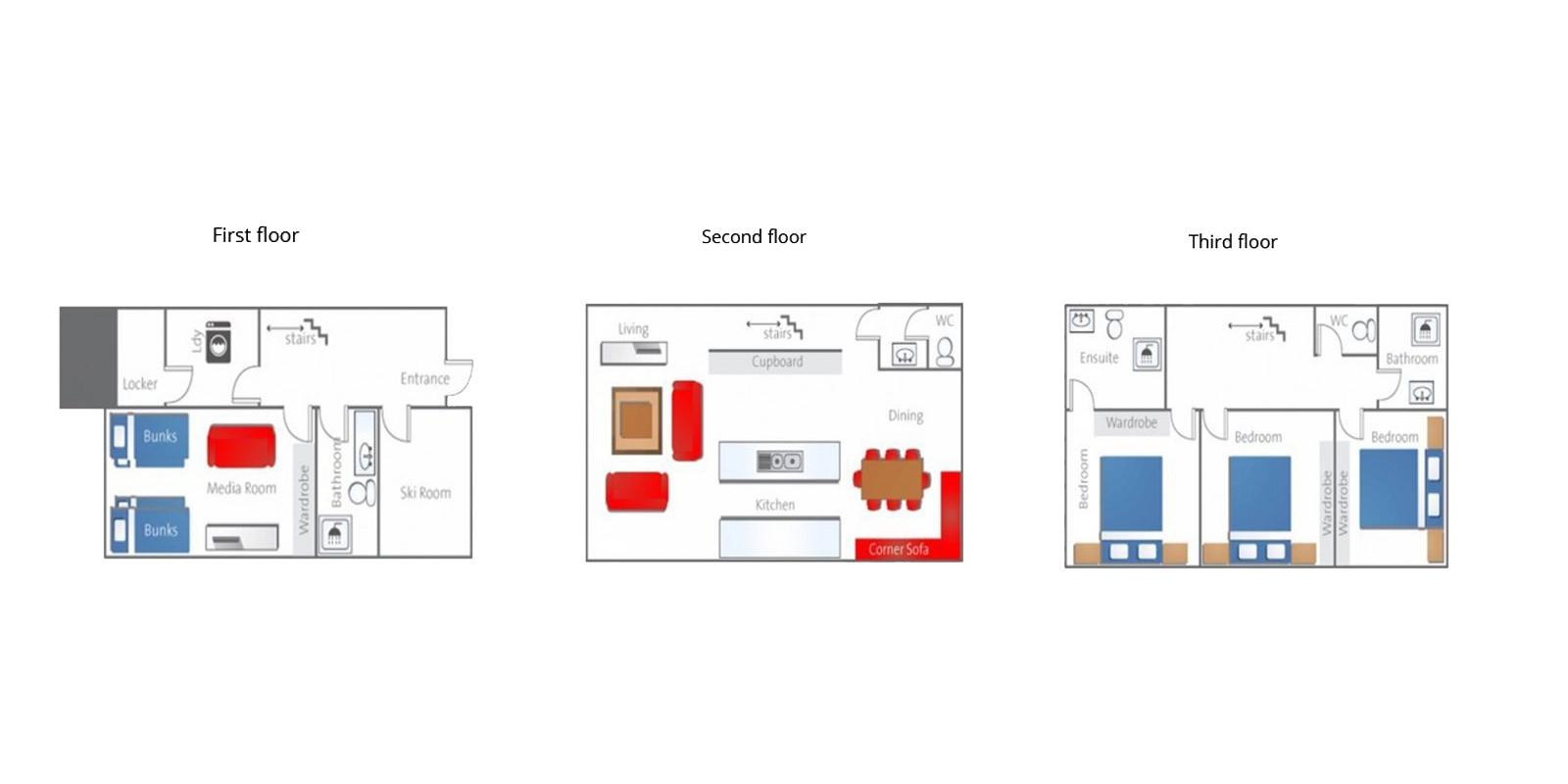Yutaka Townhouses Floor Plan | Niseko | Ministry of Chalets