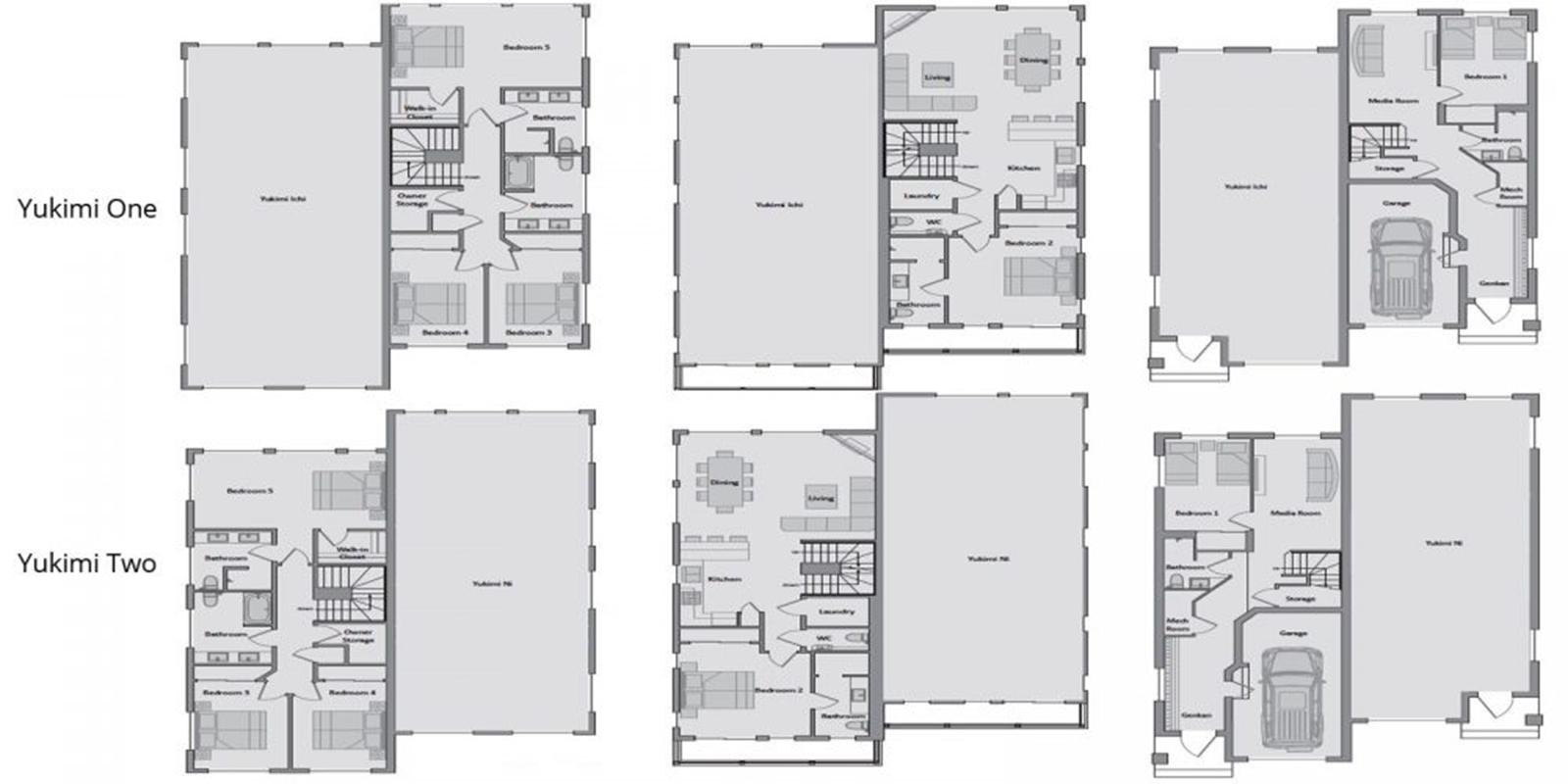 Yukimi Floor Plan | Hirafu, Niseko | Ministry of Chalets