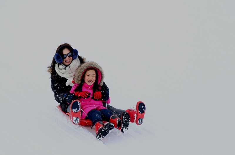 niseko-family-kids-sledding