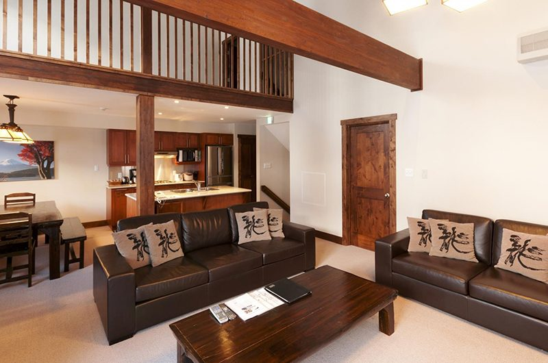Ishi Couloir A Living Area | Hirafu, Niseko | Ministry of Chalets