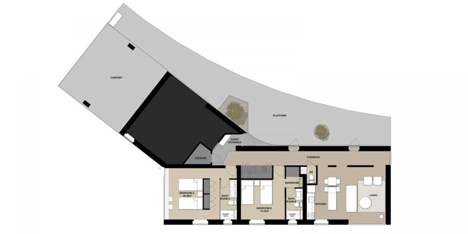 Puffin Floor Plan | Hirafu, Niseko | Ministry of Chalets